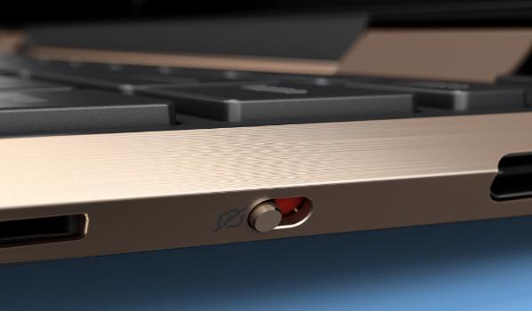 Spectre x360 detail view of Webcam Kill Switch