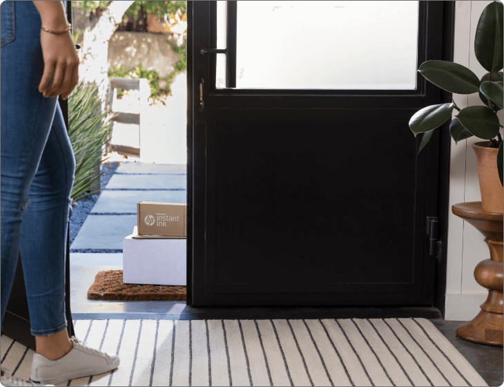 Instant Ink package delivery on a doorstep