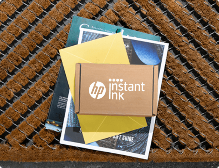 Instant Ink package on a doorstep
