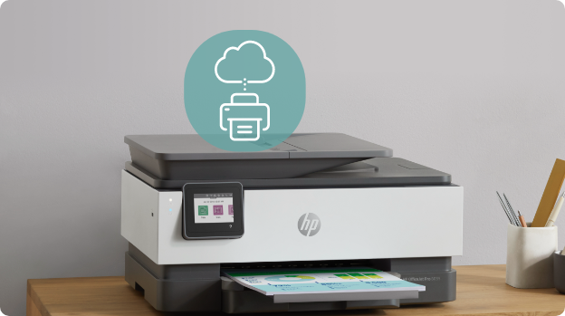 HP OfficeJet Pro 8035e All-in-One Wireless Color Printer with 12 months Instant Ink with HP+ -for home office works with Alexa Basalt 1L0H6A